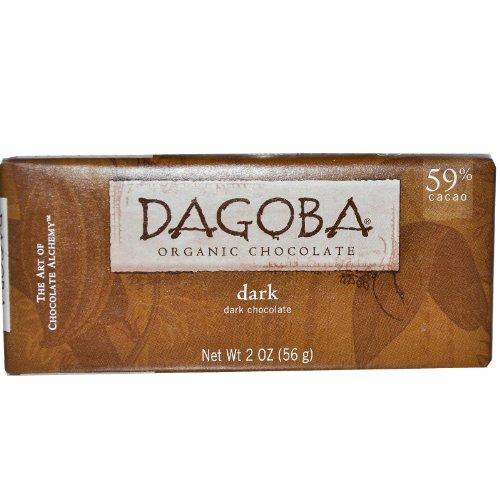 Dagoba Dark Chocolate Bar, 2-Ounce (59% Organic Dark Chocolate)