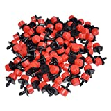 Fasmov 150 Pcs Adjustable Irrigation Drippers Sprinklers Emitter Drip Watering System