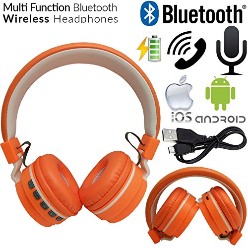 Gadget Zone UK Foldable Bluetooth 4.0 Headset Wireless Stereo Headphones Mic Sport For Samsung