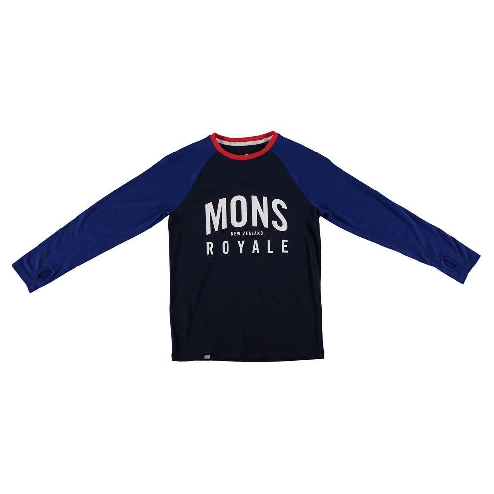 Mons Royale Boys Groms Long Sleeve (Black Grey Marl, 12 13)
