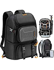 TARION Pro Camera Backpack Large with Laptop Compartment Tripod Holder Waterproof Raincover Outdoor Photography Hiking Travel Professional Camera Backpack DSLR Bag for Men Women Photographer