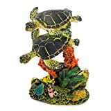 Penn Plax Swimming Sea Turtle Aquarium Decor, Small