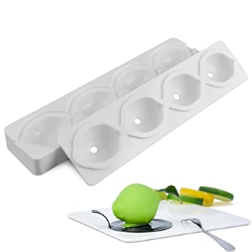 Moldes de silicona molde de pastel molde molde para cake francés pastel de la espuma 4 empresas limón forma de fruta DIY de horno molde de pastel: ...