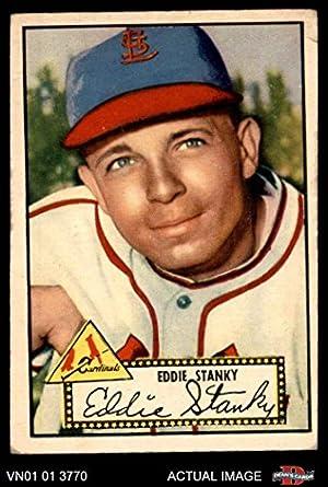 Amazoncom 1952 Topps 76 Eddie Stanky St Louis Cardinals