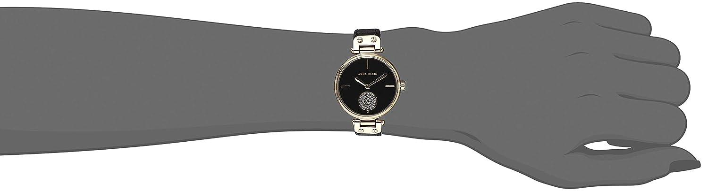 Anne Klein Women s Swarovski Crystal Accented Leather Strap Watch