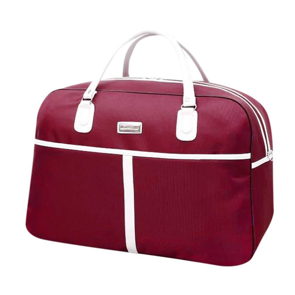 WENSY Large-Capacity Fashion Travel Bag MenS And WomenS Bag Travel Carrying Luggage Bag Handbag Travel Bag Storage Bag