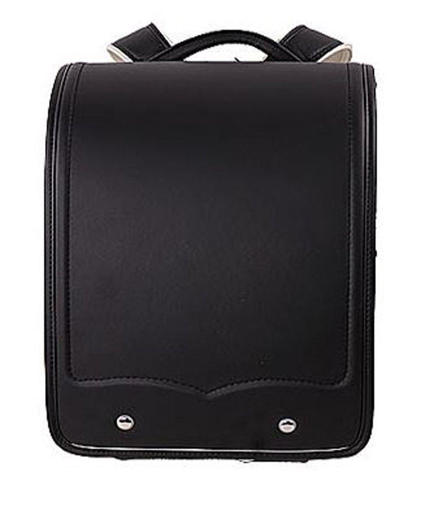 【World box】ランドセル A4教科書対応 無地 防水仕上げ 軽量 RANDOSERU schoolbag 通学 入学お祝い (黒) B01MYPF68I 黒 黒