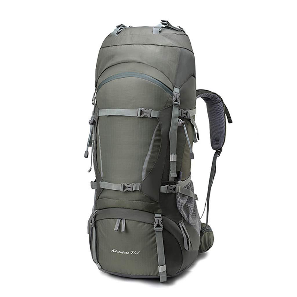 80Lアウトドア登山バッグキャンプハイキングバックパック超軽量防水スクラッチ防止の男性と女性 - レインカバー付き  gray B07MVTKJ3X
