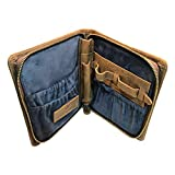 Leather Zipper Watch Case by W&S for Travel and