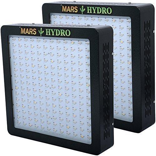 mars hydro MARSII 900 Led Grow Light Full Spectrum High Penentration Led Grow Lamp the 390W True Watt Lamp Light Lighting with Dual Veg Flower Spectrum - Mars 2 Led Grow Light 900w