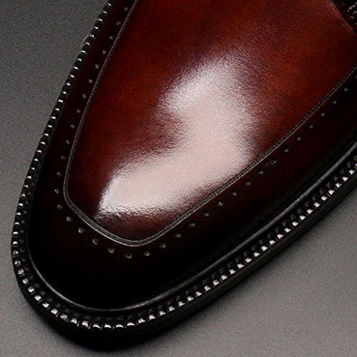 Pelle UK8 Da Scarpe EU43 Marry Uomo Vestito Britannico Marrone Colore Nero Maschio in Di Da Stile Pelle Uomo Primavera Scarpe Scarpe Di HWF Abbigliamento Formale Uomo Visita Punta dimensioni pHF781qwn
