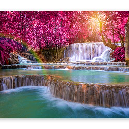 artgeist Photo Wallpaper Waterfall Rainbow 135