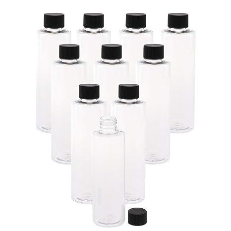 IPOTCH 10 Piezas de 200 Ml de Botella de Plástico con Tapa ...