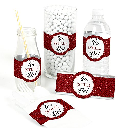 40th Anniversary Party Favors - We Still Do - 40th Wedding Anniversary - DIY Party Supplies - Wedding Anniversary Party DIY Wrapper Favors & Decorations - Set of 15