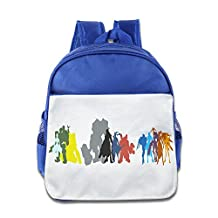 Show Time Character Silhouettes Toddler Kid Preshool School Bag RoyalBlue