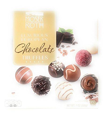 Moser Roth Luxurious European Chocolate Truffles Privat Chocolatiers 7 Oz (Belgian Chocolate Hazelnut Truffles)