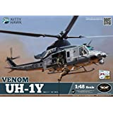 KTH80124 1:48 Kitty Hawk UH-1Y Venom Helicopter [MODEL BUILDING KIT]