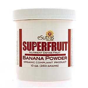 Esutras Organics Pure Organic Banana Powder, 10 Ounce
