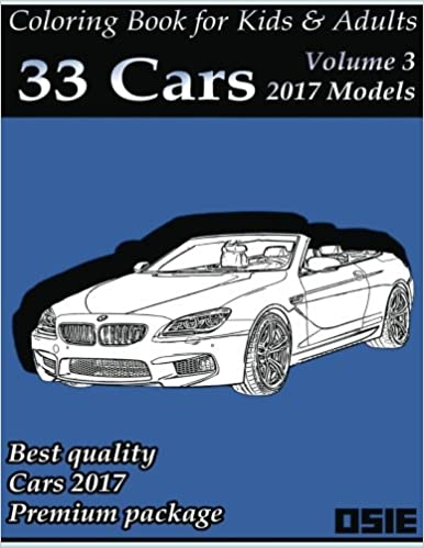 Amazon Com Coloring Book For Kids Adults Cars 2017 Supercars