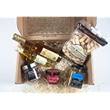 Gourmet, Gift Baskets-Imported from Spain-Gourmet Baskets Gifts-6 Premium products-Red wine salt,Caramelized onions,Xtra big Olive,Artisan Olive oil,10years aged vinegar. Chef Ole Dali Gift Baskets
