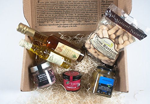 Gourmet, Gift Baskets-Imported from Spain-Gourmet Baskets Gifts-6 Premium products-Red wine salt,Caramelized onions,Xtra big Olive,Artisan Olive oil,10years aged vinegar. Chef Ole Dali Gift Baskets (Wine Baskets)
