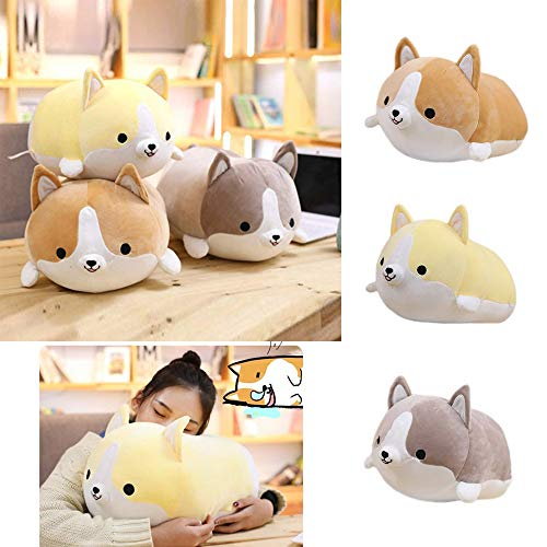 Gbell Cute Shiba Inu Stuffed Plush Toys- 25CM Kids Soft Puppy Plush Toy - Emotional Companion Dolls Room Kawaii Pillow Decor Stuffed Toys Gifts for Toddler Boys Girls Kids Adults (Brown) -
