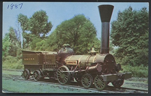 Lafayette 1837 Train Baltimore Ohio B&O Railroad Locomotive Postcard