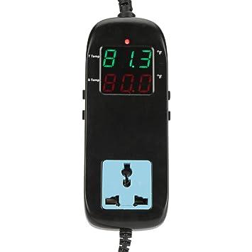 Akozon Digitaler Thermostat Digitalanzeige Intelligente