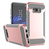 Samsung Galaxy S8/S8 Plus Case 2 in 1 Clear Hard PC Back...