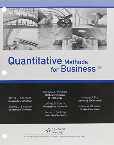 Bundle: Quantitative Methods for Business, 13th + CengageNOW, 1 term (6 months) Printed Access Card
