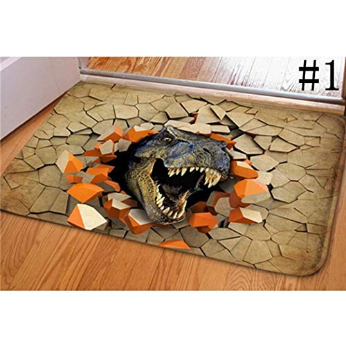 - Kindsells 3D Dinosaur Print Floor Mat Carpet Soft Doormat Rugs for Bedroom Living Room Doormats