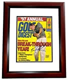 Tom Lehman Signed - Autographed Golf Digest Cover MAHOGANY CUSTOM FRAME - Certificate of Authenticity (COA) - PSA/DNA Certified