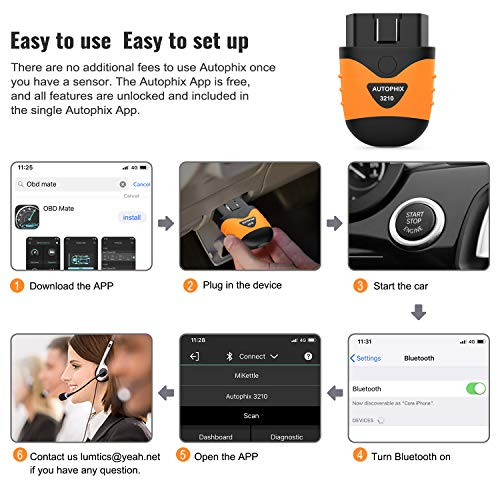 AUTOPHIX 3210 Bluetooth OBD2 Enhanced Car Diagnostic Scanner for iPhone, iPad & Android, Fault Code Reader Plus Battery Tester Exclusive App for Quality-Newest Generation by AUTOPHIX (Image #5)