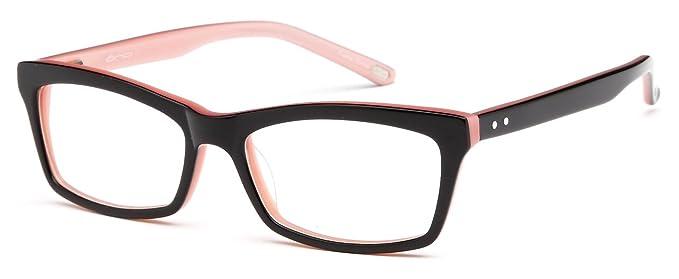 344da0fa1a Womens Wayfarer Glasses Frames Black Prescription Eyeglasses Rxable  51-16-135