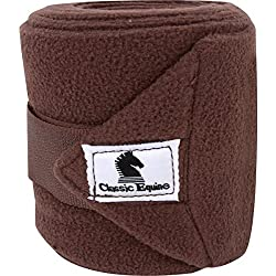 CLASSIC EQUINE POLO WRAPS SET OF 4 WITH LAUNDRY BAG CHOCOLATE