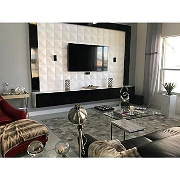 PVC Textured 3D Wall Panels, Durable Decorative 3D Wall Panels, Eco  Friendly Modern design, glue up Interior Wall Decor,10pc