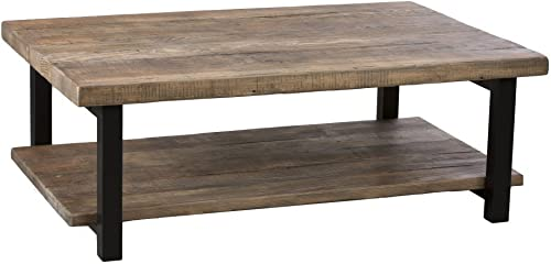 Bolton Furniture Pomona 48 L Metal and Reclaimed Wood Coffee Table