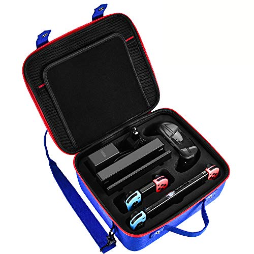 Diocall Carrying Case for Nintendo Switch, Deluxe Travel Case Compatible with Nintendo Switch System,Extra Pro Controller, Other Accessories