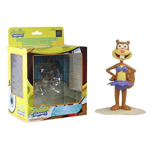 SpongeBob SquarePants Bikini Sandy Squirrel Mini-Figure World Series