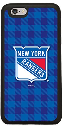 New York Rangers - Plaid Design on Black iPhone 6 / 6s Guardian Case