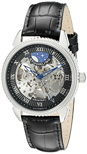 stuhrling-original-mens-83502-special-reserve-automatic-skeleton-stainless-steel-watch-with-black-le