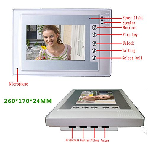 Doorbell, UEB Wired 7'' LCD Video Door Phone Doorbell Kit Home Intercom System by UEB (Image #1)