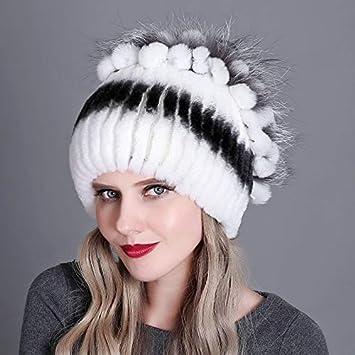 Amazon Com Hokuga Fur Winter Hat For Women 100 Real Rex
