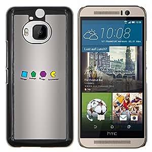 "Be-Star Único Patrón Plástico Duro Fundas Cover Cubre Hard Case Cover Para HTC One M9+ / M9 Plus (Not M9) ( Geometría Formas Om Nom"" )"