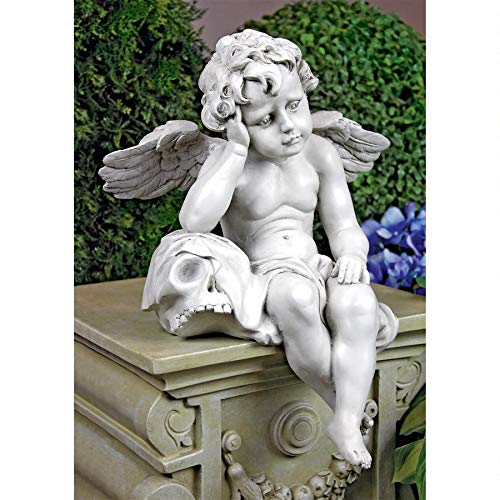 Design Toscano Mourning Mortality Sitting Cherub Statue