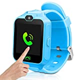 Kids Smart Cell Phone Watch,Smart Watch Phone for Boys Girls with SIM and SD Slot,Unlocked Waterproof SOS Phone Watch with Camera Games Touchscreen Children Cell Watch Holiday Birthday Gift (Blue)