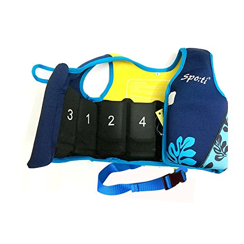 Rayma Baby UPF 50+ Life Jacket New Swimming Learner Protection Vest New Added Cross Belt for Safety For Baby New Added Cross Belt Package With Arm Bands Beach Bag (Print Blue, S 20-33lbs) by Rayma (Image #4)