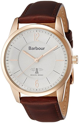 Barbour watch 3 hands leather strap BB049RSBR
