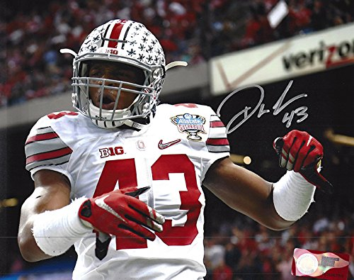 Darron Lee Autographed Ohio State Buckeyes 8x10 Photograph - Turned Up - Certified Authentic - Autographed Photos