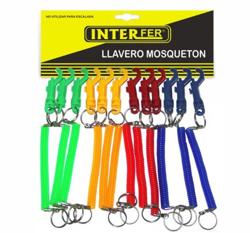 Interfer - Mosqueton llavero extensible , surtido: colores ...